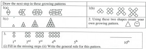 fig 2 300x101 Generalising The Pattern Rule For Visual Growth Patterns: Actions That Support 8 Year Olds Thinking